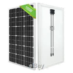 100W Solar Panel kit 12V battery Charger 20A LCD Controller Caravan Van Boat RV