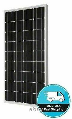 100 WATT MOTORHOME CAMPER VAN CARAVAN SOLAR PANEL FULL KIT LCD controller 100w