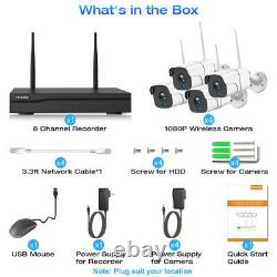1080P 8CH Home Security Camera System Wireless NVR CCTV System Kit Night Vision
