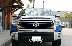 108W 36 LED Light Bar with Hood Scoop Bulge Mounting Wiring 14-21 Toyota Tundra