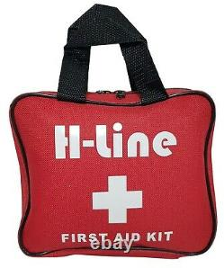 108 Piece First Aid Kit Medical Emergency Travel Home Car Taxi Work 1st Aid Bag