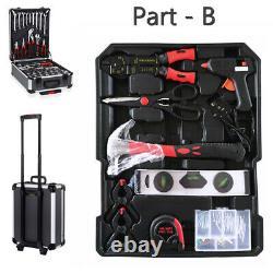 1200 Pcs Tool Set Case Mechanics Kit Box Organize Castors Toolbox Trolley UK