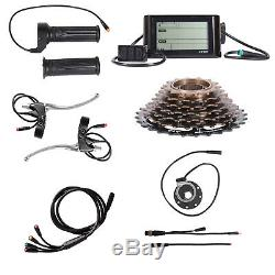 1500W Electric Bicycle Conversion Kit 26Rear Wheel Twist Throttle LCD Meter 48V