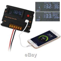150W 12V Mono Solar Panel Kit with 20A Controller for Boat Camp Outdoor Battery