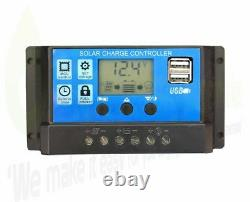 150/1000w Solar Panel Electricity Generator Kit Charge Control Battery Inverter