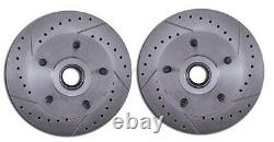 1964-1972 GM A, F, X Body Disc Brake Conversion Kit 9 Booster Drilled Rotors