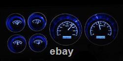 1973-1987 Chevy Truck C10 Black Alloy & Blue Dakota Digital VHX Analog Gauge Kit