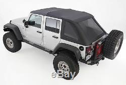 2007-2017 Jeep Wrangler Unlimited Frameless Bowless Soft Top Kit (requires hrdw)