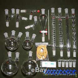 24/40, New Organic Chemistry Laboratory Glassware Kit, 32 PCS, Lab Chemilcal Unit