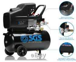 24 Litre Air Compressor & 5 Piece Tool Kit 9.6 CFM, 2.5 HP