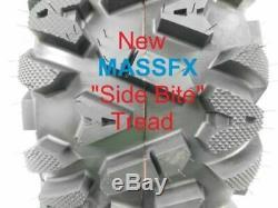25 Massfx Atv / Utv Tires Full Complete Set 4 25x8-12 25x10-12 Bighorn