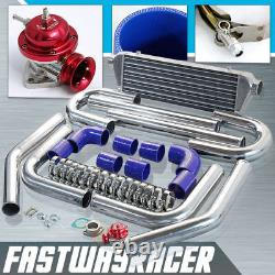 2.5'' Aluminum FMIC Intercooler Piping Kit +Red Type-RS Turbo Blow Off Valve Bov