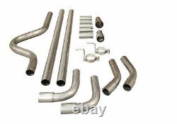 2.5 Performance Universal Exhaust Cat Back Full System Piping Pipe Kit