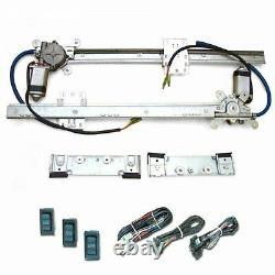 2 Door Flat Glass Power Window Kit Switches Street Rod Hot Rod Front Rear Glass