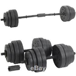 30kg Gym Dumbbells Set Pair Weight Lifting Bar Dumbells Weights Kit Dumbbell Set