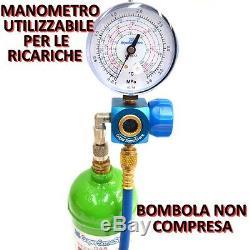 3s Kit Carica E Vuoto Pompa 42 Lt Ricariche Climatizzatore R32 R410a R407c R134a