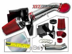 4 RED 99-06 GMC/Chevy V8 4.8L/5.3L/6.0L Cold Air Intake System +Heat Shield