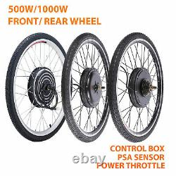500With1000W 26 Electric Bicycle Motor Conversion Kit Front/Rear Wheel E Bike PAS