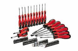 58 Pc Mechanics Screwdriver & Bit Set Precision Slotted Torx Phillips Tool Kit