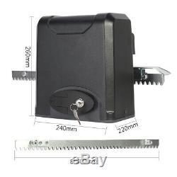 600KG Automatic Sliding Gate Opener Kit Door Electric 2 Remote Control Racks