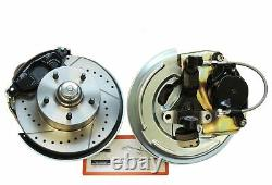 67-74 GM A F X Body Front Disc Brake Conversion Kit Cross Drilled Slotted Rotors