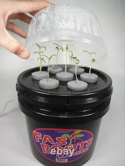 7 Site Indoor Plant Cloning System Root Growing Air Bubbler Hydroponics Kit