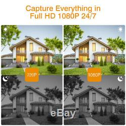 8CH NVR Recorder Kit Wireless 1080P WIFI CCTV Outdoor Security IP Camera System
