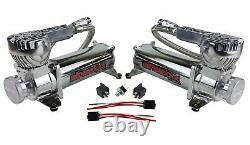 Air Ride Suspension Kit For 1963-72 C10 3/8 Valves Blk 7 Switch Bags Tank 580