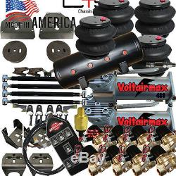 Airbagit 73-87 C10 Air Suspension Kit with 1/2 Valves 7-Switch 8Valves 8-tank