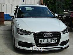 Audi A3 / S3 S-Line 2013-2015 8V front Lip Spoiler Splitter body kit by HT Autos
