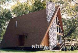 Berkshire A-Frame 24x44 Customizable Shell Kit Home, delivered ready to build