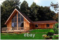 Blueridge Chalet 28 x 36 Customizable Shell Kit Home, delivered ready to build