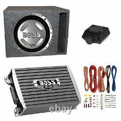 Boss Audio 12 1400W Subwoofer, 1500W Amplifier w Amp Kit & QPower 12 Enclosure