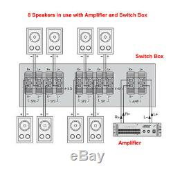Cafe Restaurant Shop Bluetooth Amplifier Ceiling Speaker System Kit Choice 2,4,8