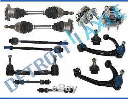 Chevy Silverado 1500 4x4 6-LUG Both CV Axles & Wheel Bearings + Suspension Kit