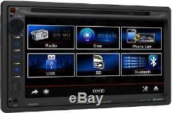 Chrysler Jeep Dodge Power Acoustik Bluetooth Usb Aux Car Radio Stereo Pkg