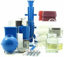 Complete candle making kit Moulds, votive, jug, 2.5Kg wax makes 50 candles