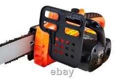 Cordless Chainsaw 18v Li-Ion Battery Charger 10 Oregon Bar Chain Heavy Duty Kit