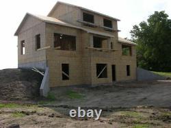 Custom Log Home Cabin with Hand Peeled White Cedar Kit Panelized Construction