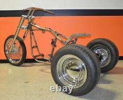 Custom Trike Softail Bobber Chopper Frame Rolling Chassis Roller Harley Bike Kit