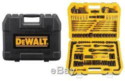 DEWALT 181 Piece Mechanics Tool Kit Spanner Socket Set Ratchet Black Chrome NEW