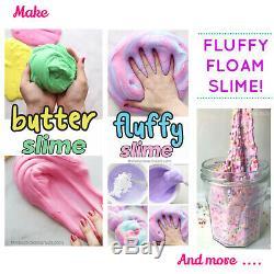 Daiso soft clay butter Slime making Kit Elmer's Glue Karina putty & fluffy Slime