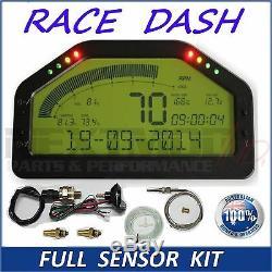 Dash Race Display FULL SENSOR KIT, Dashboard LCD Screen Gauge Rally Motec AIM
