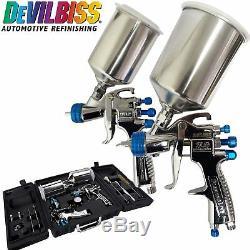 DeVilbiss SLG-650 Compliant Spray Gun & HVLP Spray Gun Paint Air Painting Kit