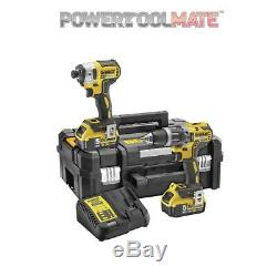 Dewalt DCK266P2T Combi Drill and Impact Driver Kit with 2 x 5.0Ah Brushless