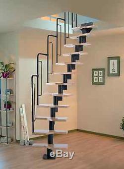 Dolle Graz Space Saver Spiral Loft Staircase Kit Black Metal-Work (In Stock)