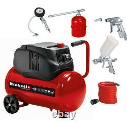 Einhell 1.6Hp 24L Oil Free Compressor + 5Pc Airtool Kit 230V