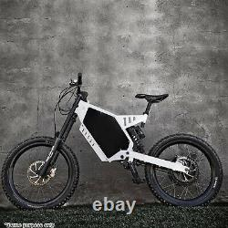 Electric Bicycle E bike Frame Kit Stealth Bomber Electric Bicycle Frame White