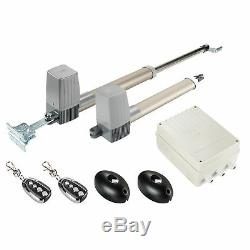 Electric Swing Gate Opener Operator Double Arms Remote Control Door Gate Kit