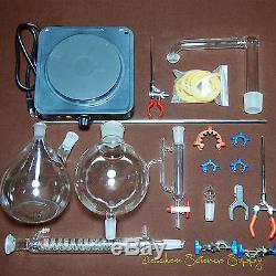 Essential Oil Steam Distillation Kit, Lab Apparatus, WithHot Stove, Graham Condenser